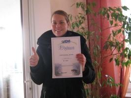 Friederike Sponagel, IDA CMAS Bronze (*), 24.10.2010.