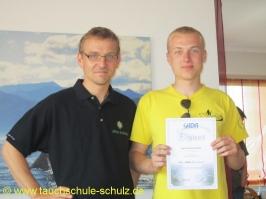 Maik Tiemann, Spezialkurs Nitrox Basic Diver, 07.07.2013